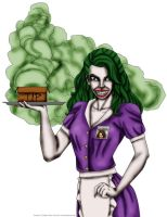 Jokerized Waitress by Jokerisdaking