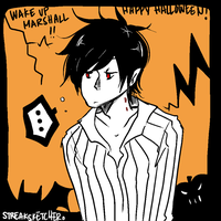 Happy Halloween! here have a Marshall by streaksketcher