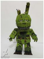 five nights at freddy's 3 SpringTrap Papercraft by Adogopaper