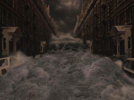 Flooded street by BanditArtDesign