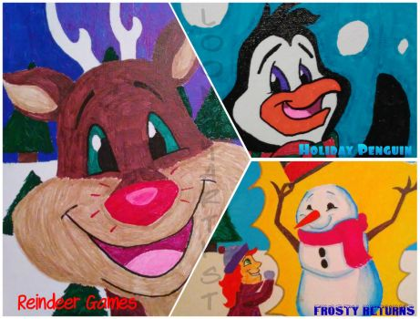 Holiday Canvas Drawings by LooneyArtist