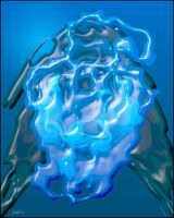 139-2010 Blue Shape II by Lajos-Toth