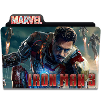 Ironman 3 Folder Icon (with Marvel logo) by Neal2k