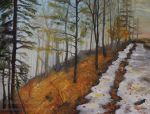Foggy Autumn Forest -oil by Oksana007