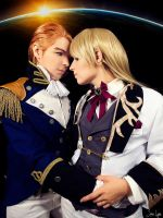 Trieze and Zechs Cosplay from Gundam Wing by SNTP