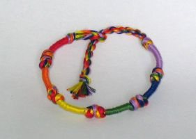 Gay Pride Friendship Bracelet by catnmaus