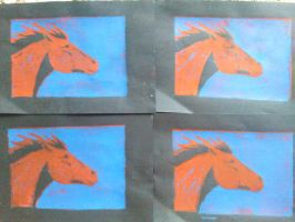 prints: horse heads by horseylove91