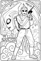 Rocketeer Mucha-Style by Rowen-silver