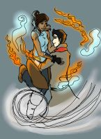 Makorra by LilyScribbles