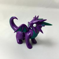 SALE baby purple dragon by LittleCLUUs