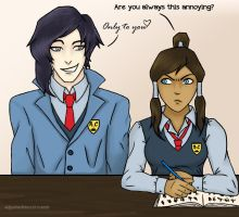 AU Tahno and Korra by AcoreaGray