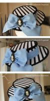 The Unbirthday Hat Mini Boater Hat by ImperialFiddlesticks