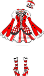 Queen of hearts dress adoptable closed by AS-Adoptables