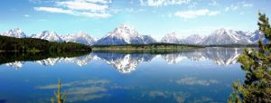 Panarama Grand Tetons and Jackson Lake by camera-buff