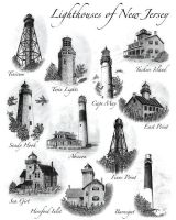 Lighthouses of New Jersey by GregDiNapoli