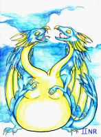 Zodiac Dragons: Gemini by MilkToothCuts