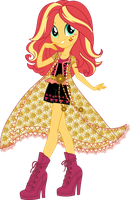 Legend of Everfree Boho Sunset Shimmer Vector by icantunloveyou