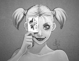 Harley Quinn - Poker face by polarityplus