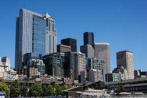 Downtown Seattle by TheDemolitionist