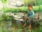 Little fisherman by mary-petroff
