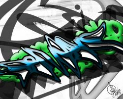 Graffiti Desktop BG 2 of 2 by TripAddict