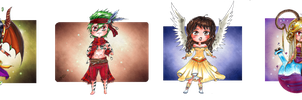 :Gift: Chibi set 2 by Linelana
