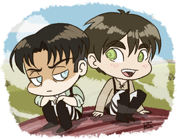 Eren and Levi by GlamourKat