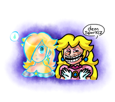 Smash Bros Delete scene-dem sparklz by IceCreamLink