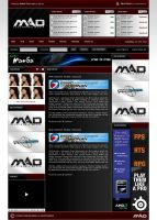 Mad-EMedia Gaming Website by zblowfish