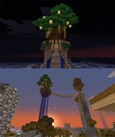Minecraft - Floating Tree by Porforever