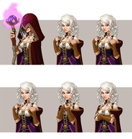 Wizard girl concept art by Pykodelbi