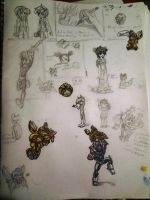 My gawd, epic doodles galore! by Warriocat12