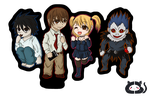 Death Note: The Important 4 by Cera-Miaw
