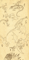 Some dragons 2 by GoldenNove