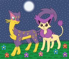 Liepard and Delcatty by MCsaurus