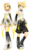 Kagamine Twins Append by Azunyannyannyan