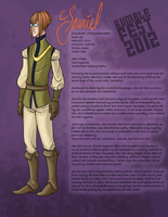 Sauriel Chrysander Character Sheet. by Anceylee-Star