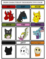 Character Colour Meme by kaiathedragon13