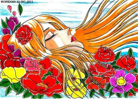 NATASSIA MADRE DE HYOGA...MARKER-COLOR by MUERTITO69