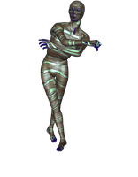 Alien Mummy Strike a Pose (Stock Image) by MadFatSkillz