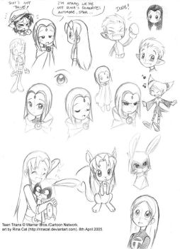 TT characters sketches by rinacat