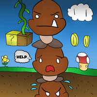 A Goomba tower by thegamingdrawer