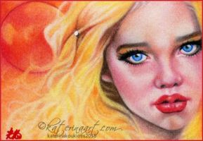 Blood Moon ACEO by Katerina-Art