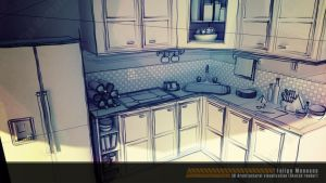 3D Interior Design - Sketch by felipemeneses