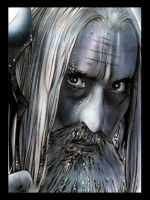 Saruman Sketch Card by RandySiplon