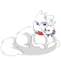 [APH] Nekotalia Norway and Iceland by MintyGumball