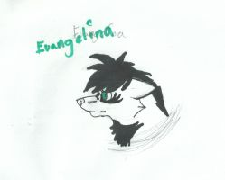 Ang/Angel - EvAngelina Moontares - scetch by Rainwolflover