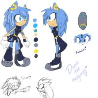 Donn The Hedgehog Ref by Singhter-lips