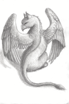 Gryphon in graphite by HannahGoanna