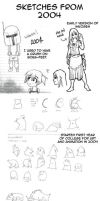 2004 Sketch Dump by macawnivore